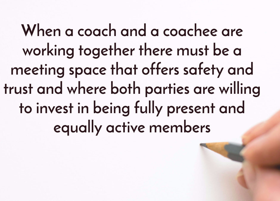 Creating a partnership based on trust-safety-presence…