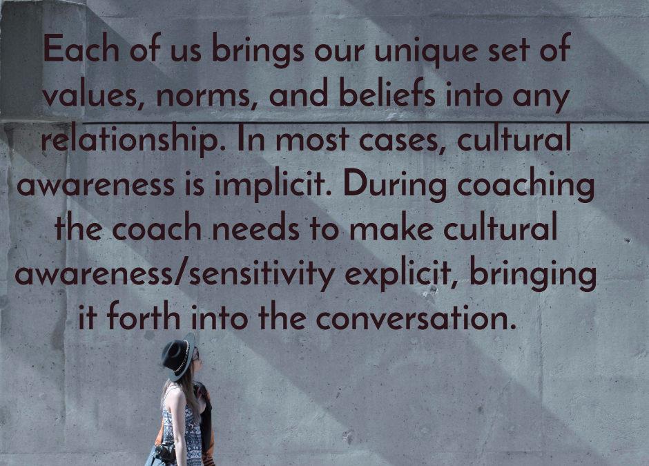Culture an implicit factor in coaching?